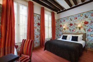 Chambre double supérieure Hôtel Saint Paul Paris